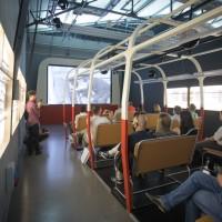 """Centrum Historii Zajezdnia Wrocław, wystawa """"Zajezdnia strajkuje"""""""
